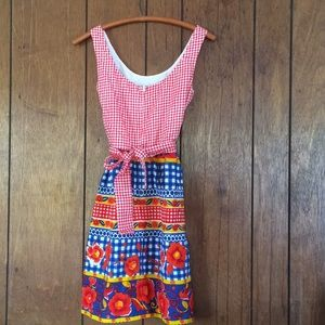 VINTAGE 1960's LANZ sun dress country hippie SMALL